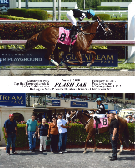 Flash Jak 20170219_GulfstreamPark_R4_WinnersCircle
