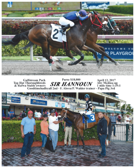 Sir Hannoun 20170412_GulfstreamPark_R1_WinnersCircle
