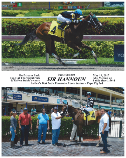 Sir Hannoun 20170519_GulfstreamPark_R1_WinnersCircle