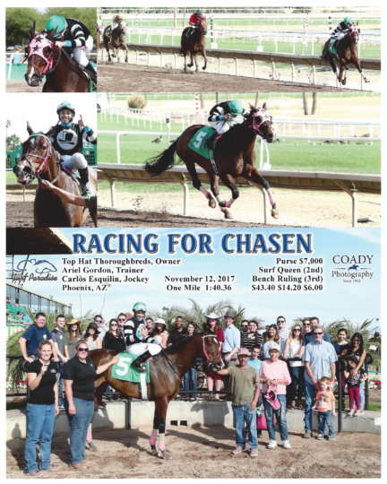 Racing For Chasen 20171112_TurfParadise_R3_WinnersCircle