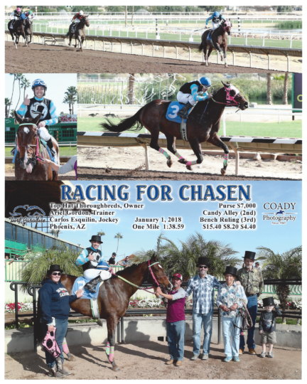 Racing For Chasen 20180101_TurfParadise_R2_WinnersCircle