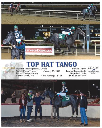 Top Hat Tango 20180127_CharlesTown_R8_WinnersCircle