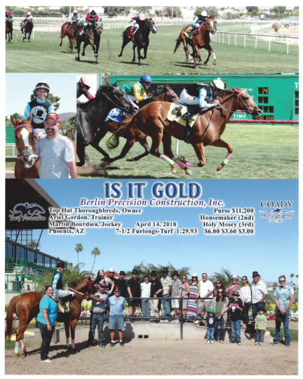 Is It Gold 20180414_TurfParadise_R4_WinnersCircle