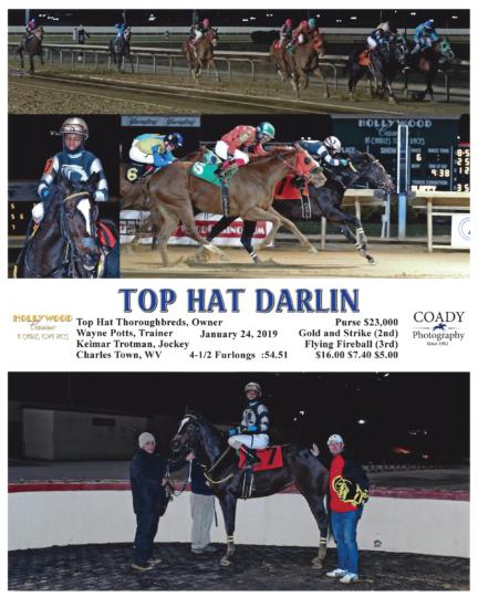 Top Hat Darlin 20190124_CharlesTown_R6_WinnersCircle