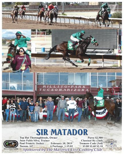 Sir Matador 20190210_Rillito_R5_WinnersCircle