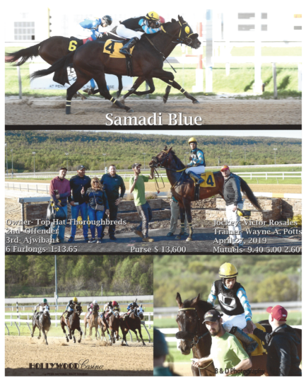 Samadi Blue 20190427 Penn National R1 Winners Circle