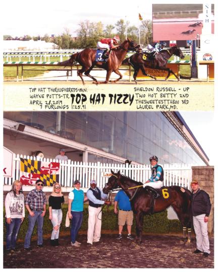 Top Hat Tizzy 20190428 Laurel Park R9 Winners Circle