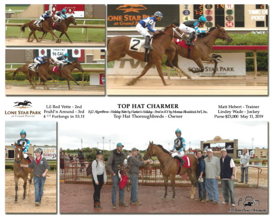 Top Hat Charmer 2019-0511-Lone Star R1 Winners Circle