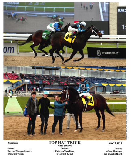 Top Hat Trick 20190510 Woodbine R5 Winners Circle